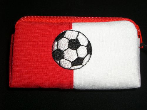 Voetbal rood/wit